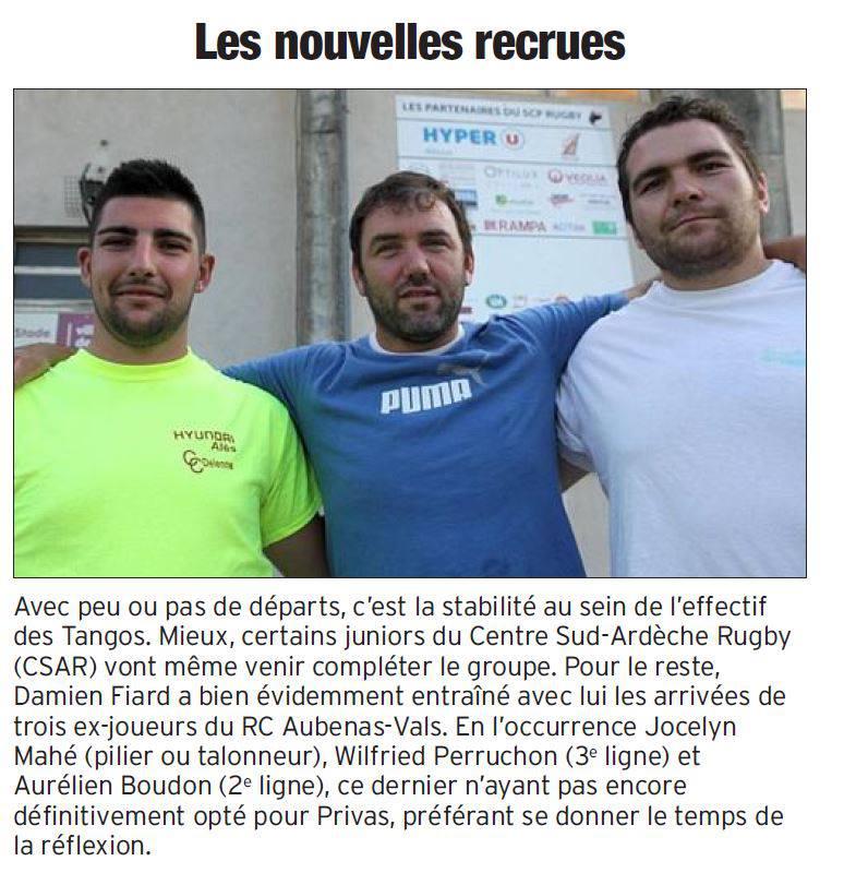 Article du Dauphiné Libéré du 20 juillet 2013