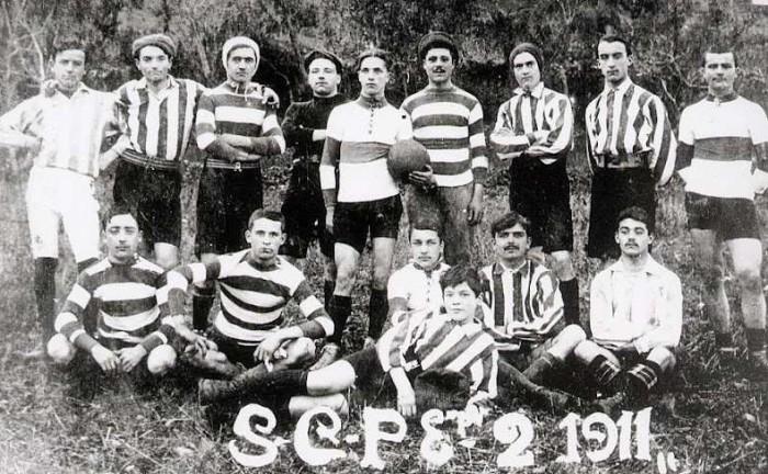 1911 : la première équipe du SC Privas Rugby