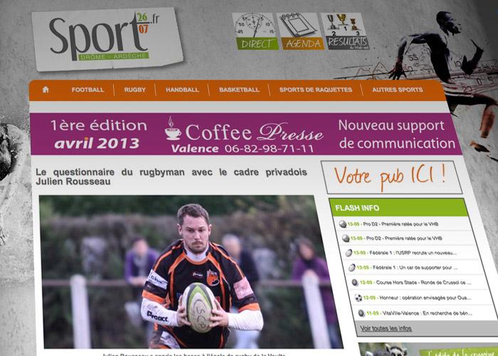 L'interview de Julien Rousseau dans Sport2607.fr